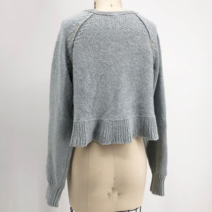 Free People Sweaters - FREE PEOPLE Sweetheart Cropped Henley Sweater NWT